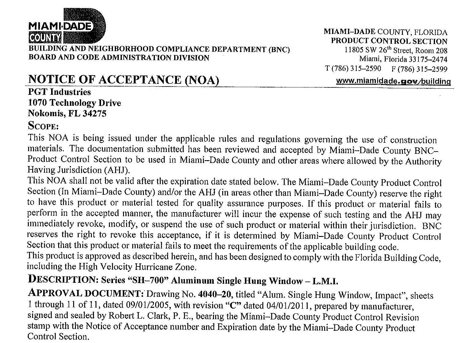 Miami Dade Building Permit Selection Menu